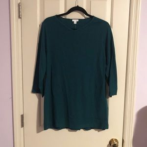 NWT J Jill Green Thermal Blouse